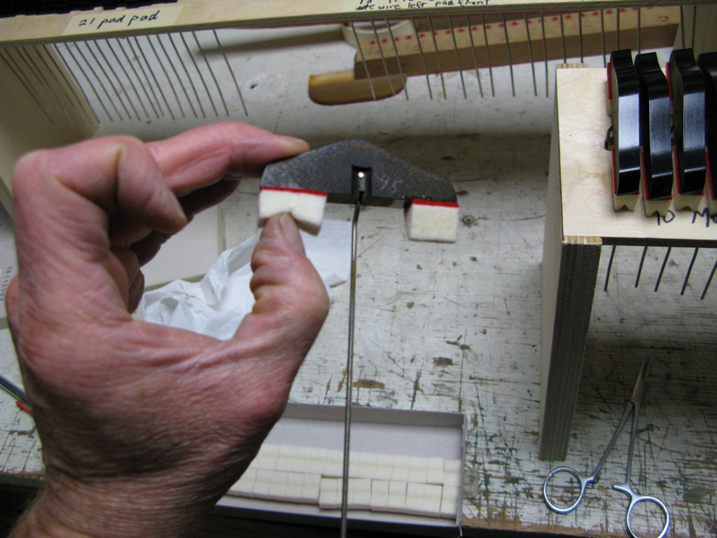 Piano refelting process - step 3